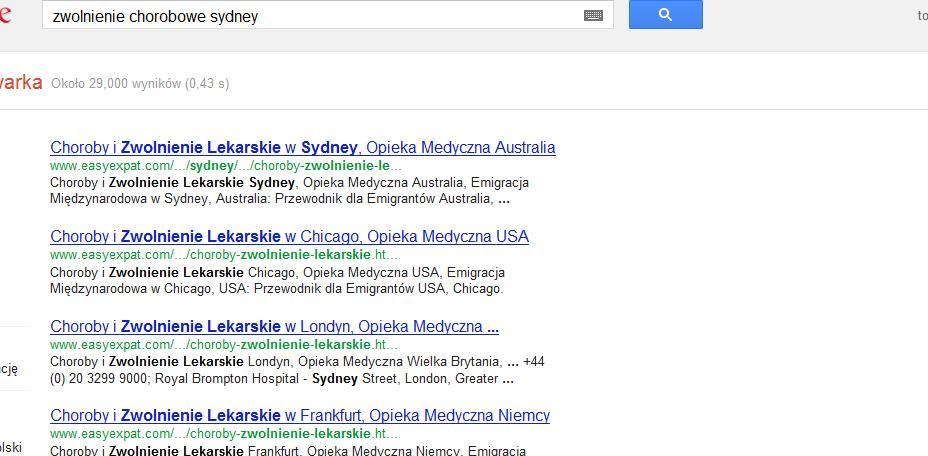 zle wyniki google