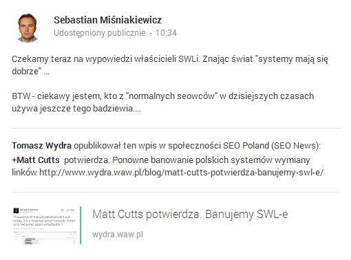 wpis Sebastiana Miśniakiewicza
