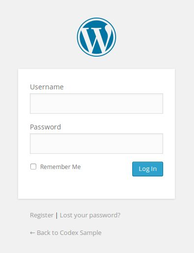 wordpress panel logowania